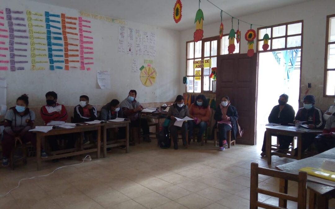 """El núcleo educativo de Challcha participo del taller """"Diagnostico para identificación de niños, niñas y adolescentes con discapacidad""""."""